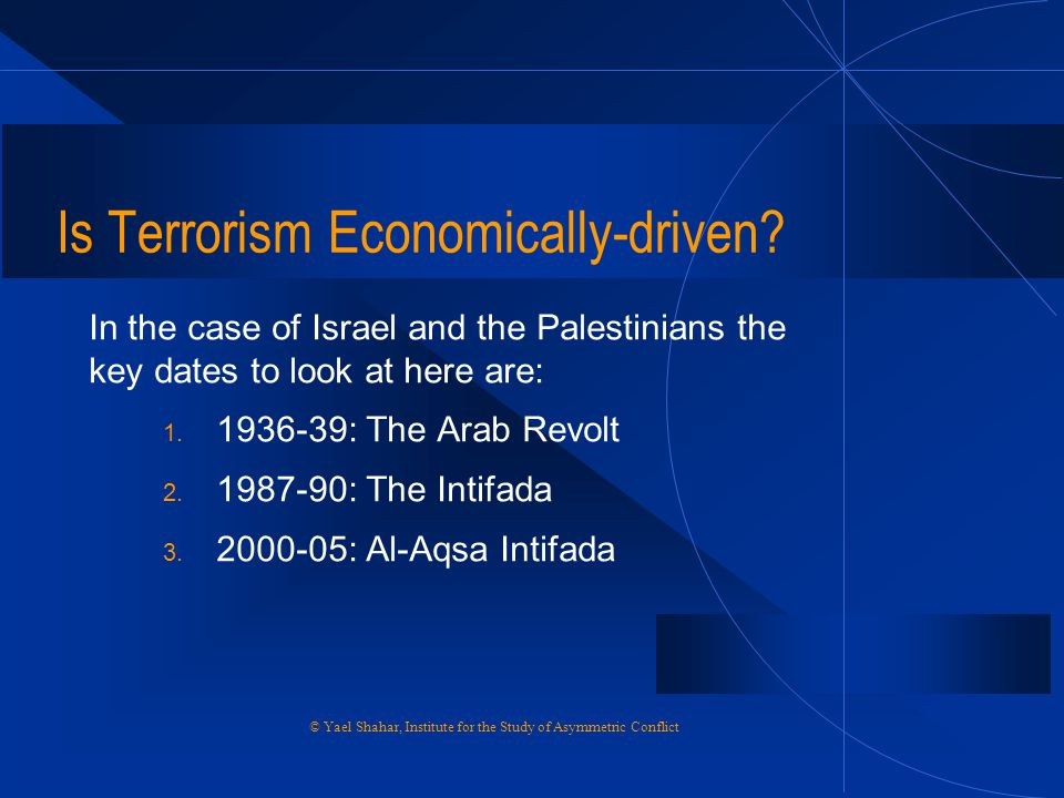 Is Terrorism Economically-driven
