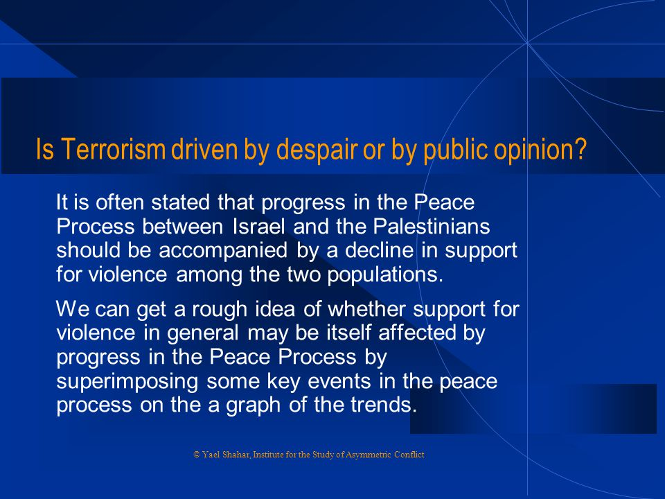 Is Terrorism driven by despair or by public opinion