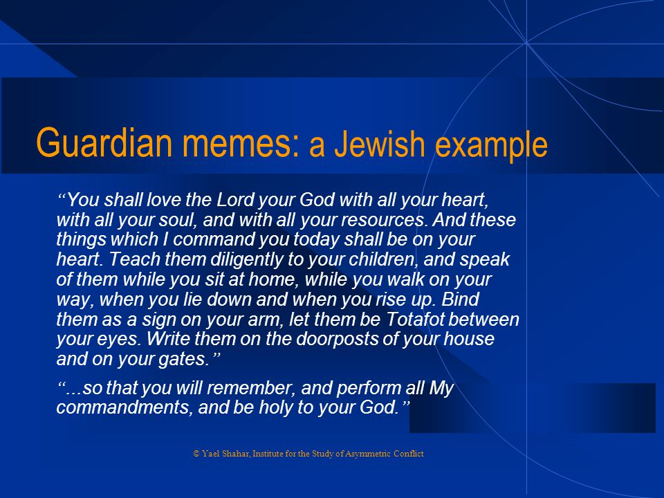 Guardian memes: a Jewish example