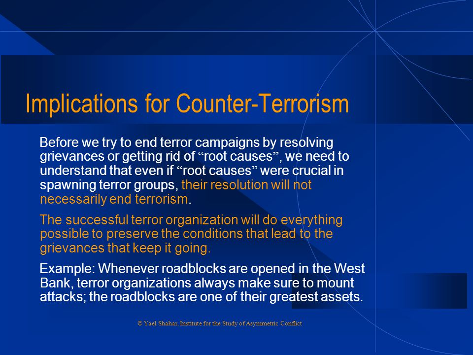 Implications for Counter-Terrorism