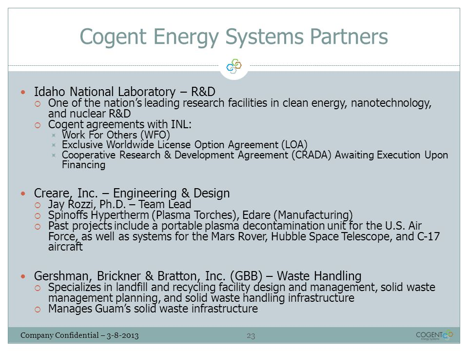 Cogent Energy Systems Partners