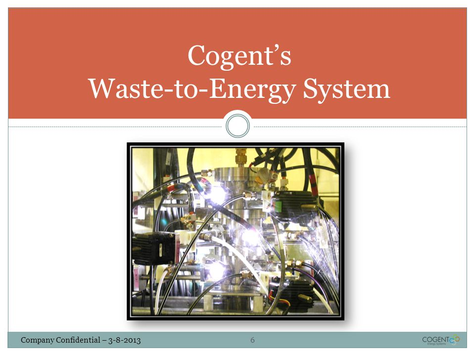 Cogent's Waste-to-Energy System
