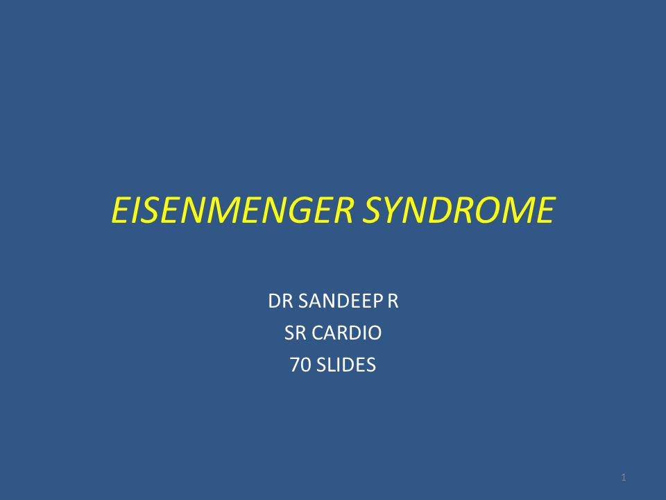 DR SANDEEP R SR CARDIO 70 SLIDES
