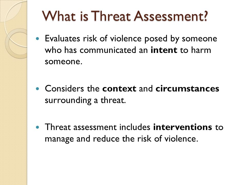 What is Threat Assessment