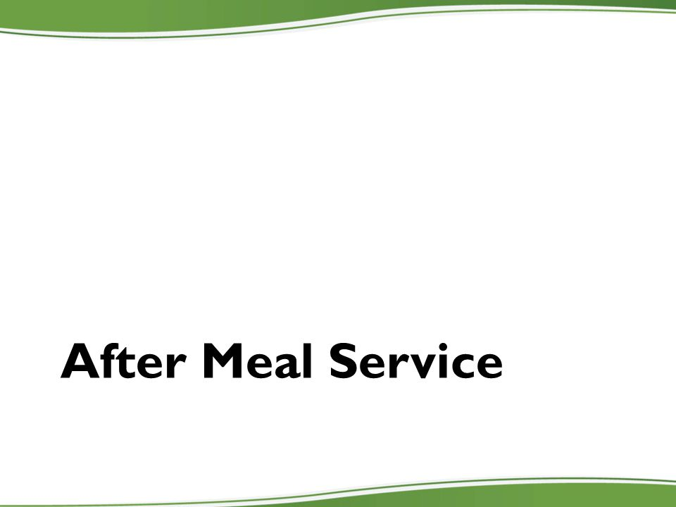 After Meal Service
