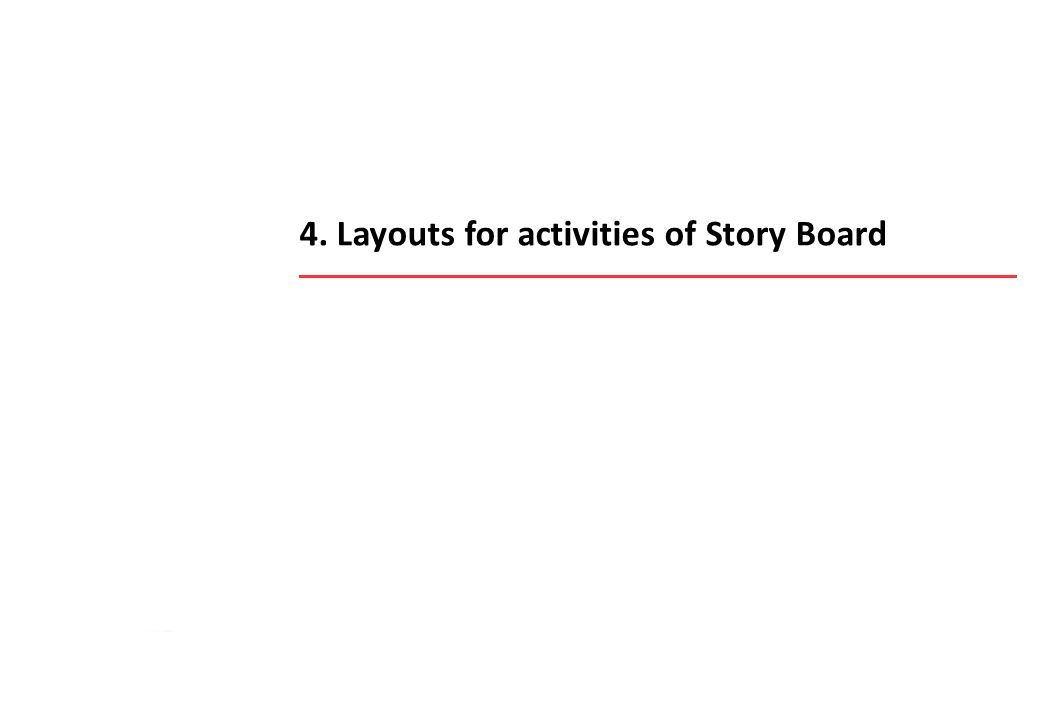 4. Layouts for activities of Story Board