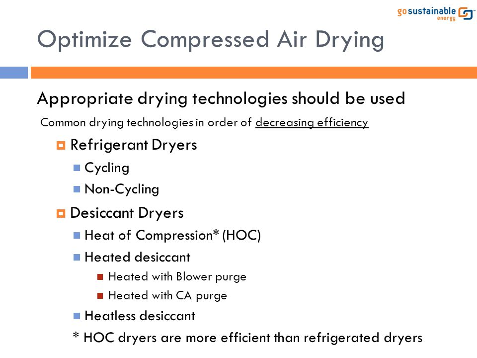 Optimize Compressed Air Drying
