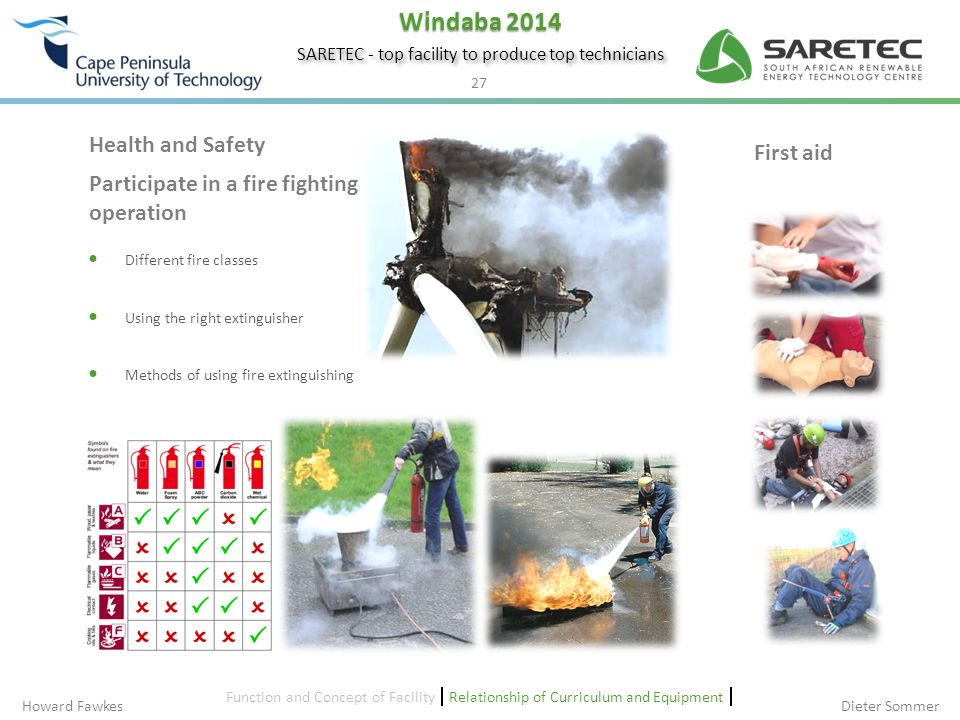 Participate in a fire fighting operation