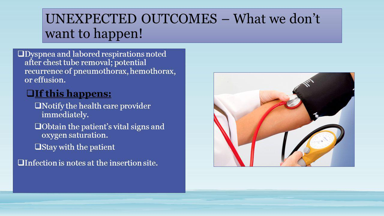 UNEXPECTED OUTCOMES – What we don't want to happen!
