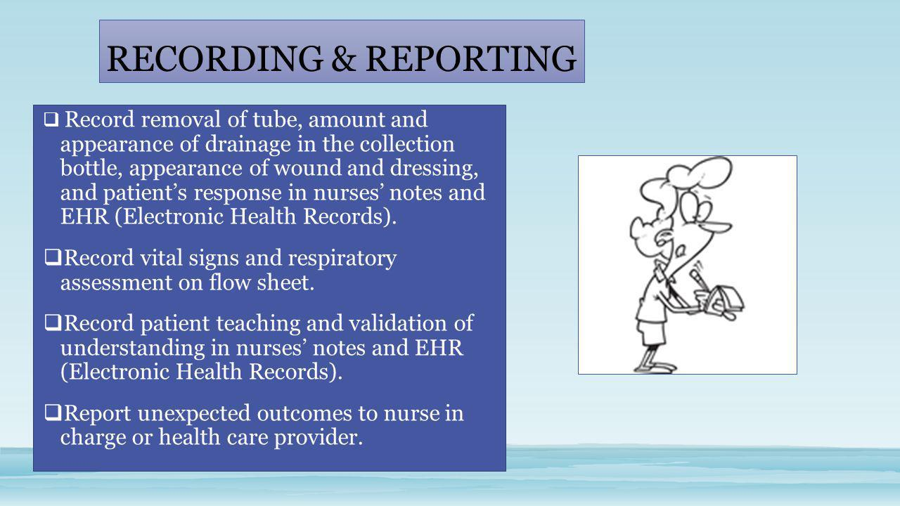RECORDING & REPORTING