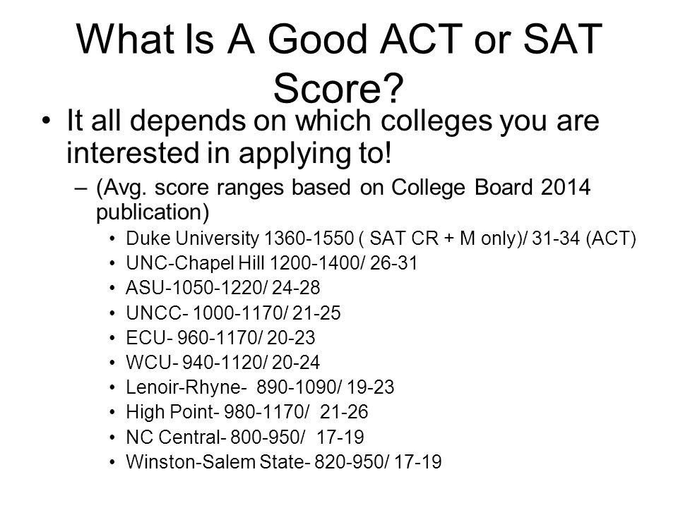 What Is A Good ACT or SAT Score