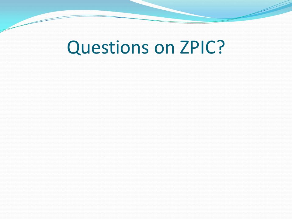 Questions on ZPIC