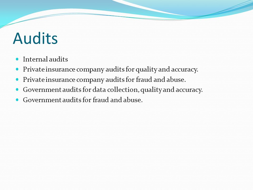 Audits Internal audits