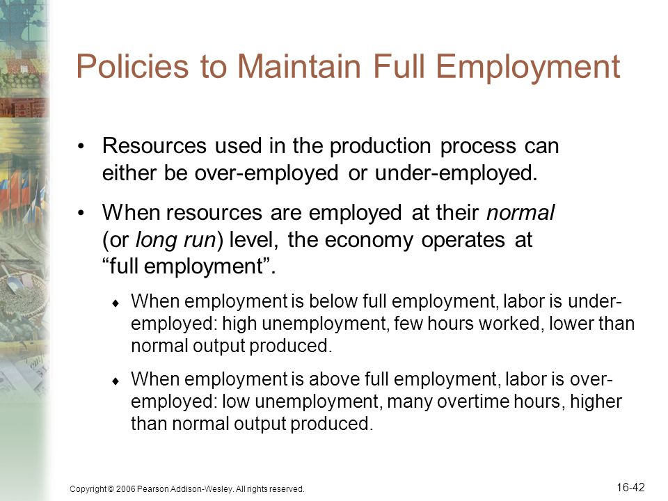 Policies to Maintain Full Employment