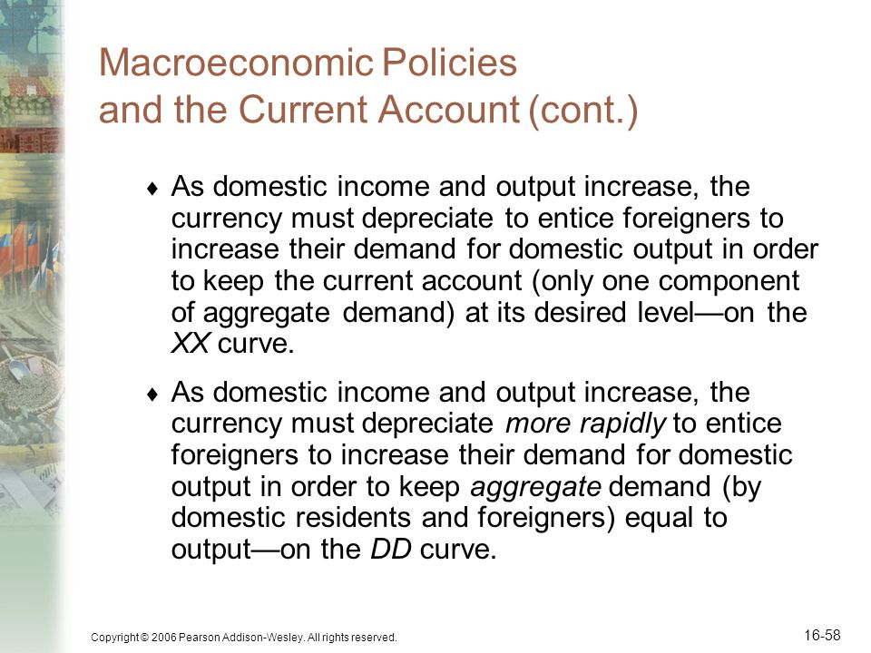 Macroeconomic Policies and the Current Account (cont.)