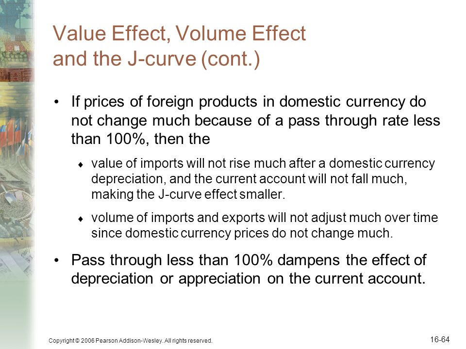 Value Effect, Volume Effect and the J-curve (cont.)
