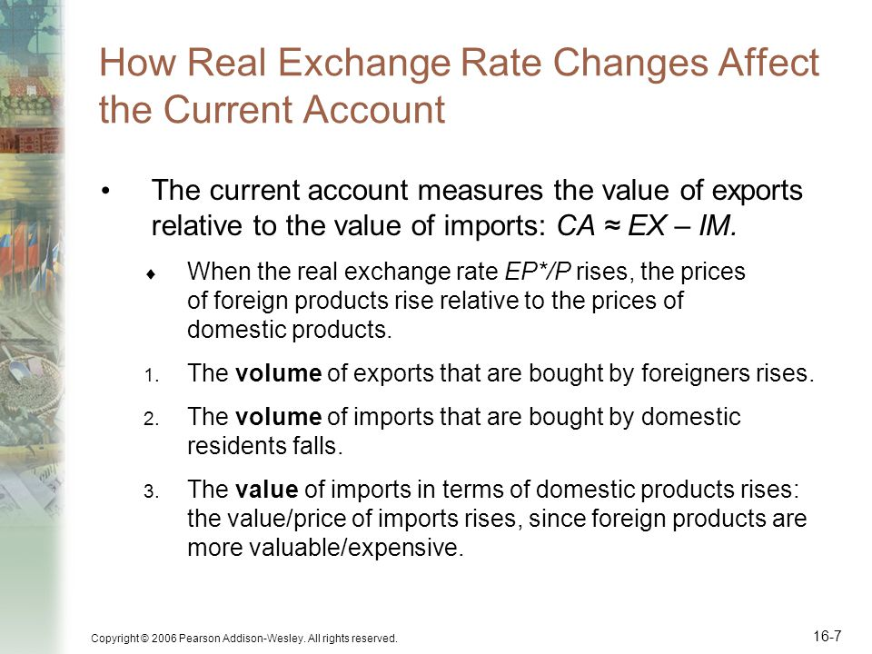 How Real Exchange Rate Changes Affect the Current Account