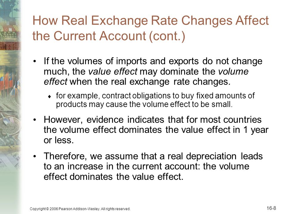 How Real Exchange Rate Changes Affect the Current Account (cont.)