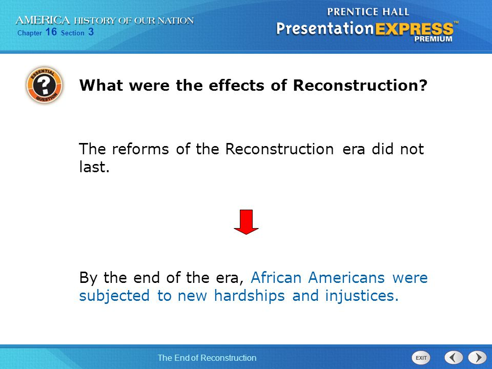 What were the effects of Reconstruction