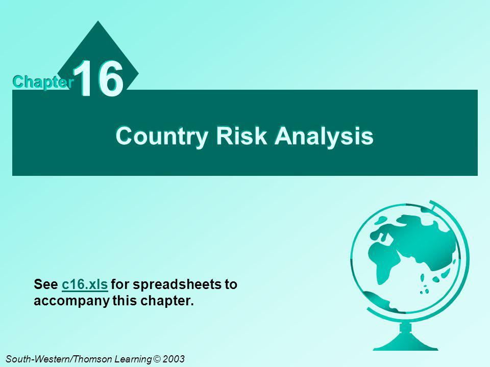 16 Country Risk Analysis Chapter