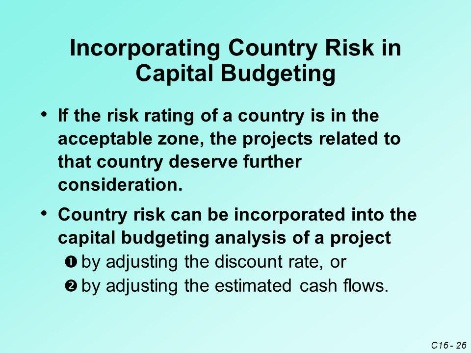 Incorporating Country Risk in Capital Budgeting