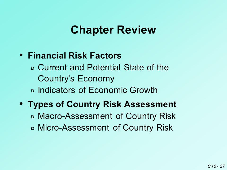 Chapter Review Financial Risk Factors