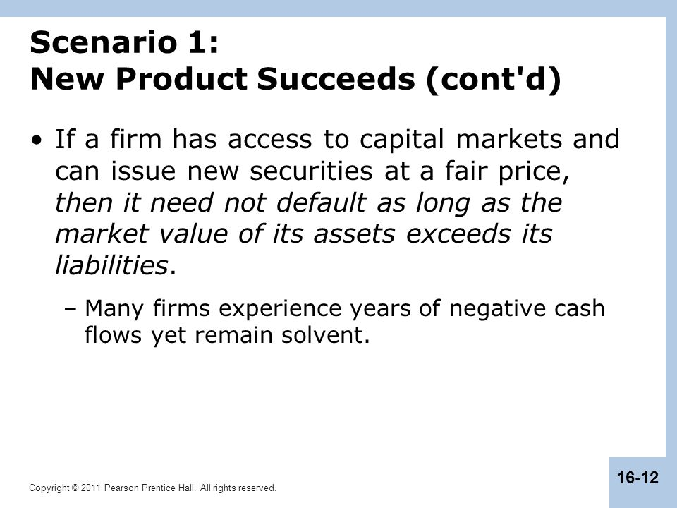 Scenario 1: New Product Succeeds (cont d)
