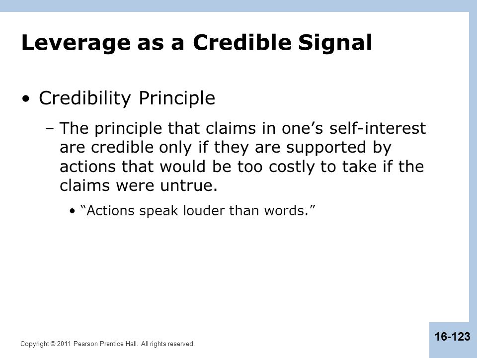 Leverage as a Credible Signal