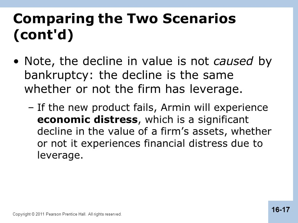 Comparing the Two Scenarios (cont d)