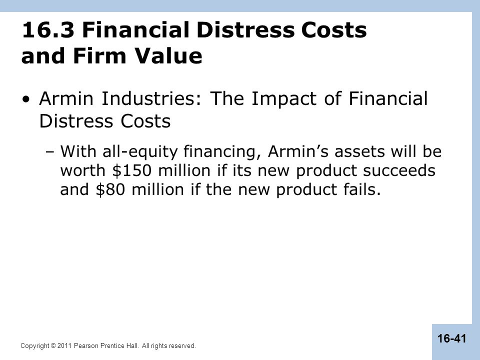 16.3 Financial Distress Costs and Firm Value