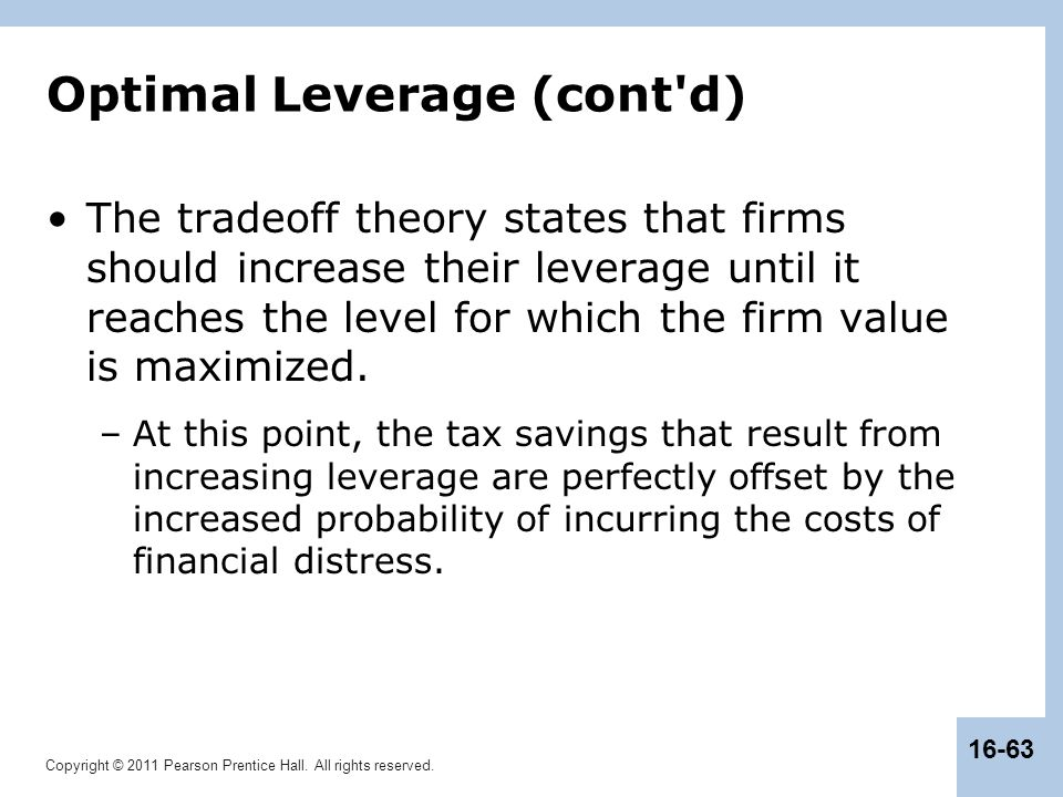 Optimal Leverage (cont d)
