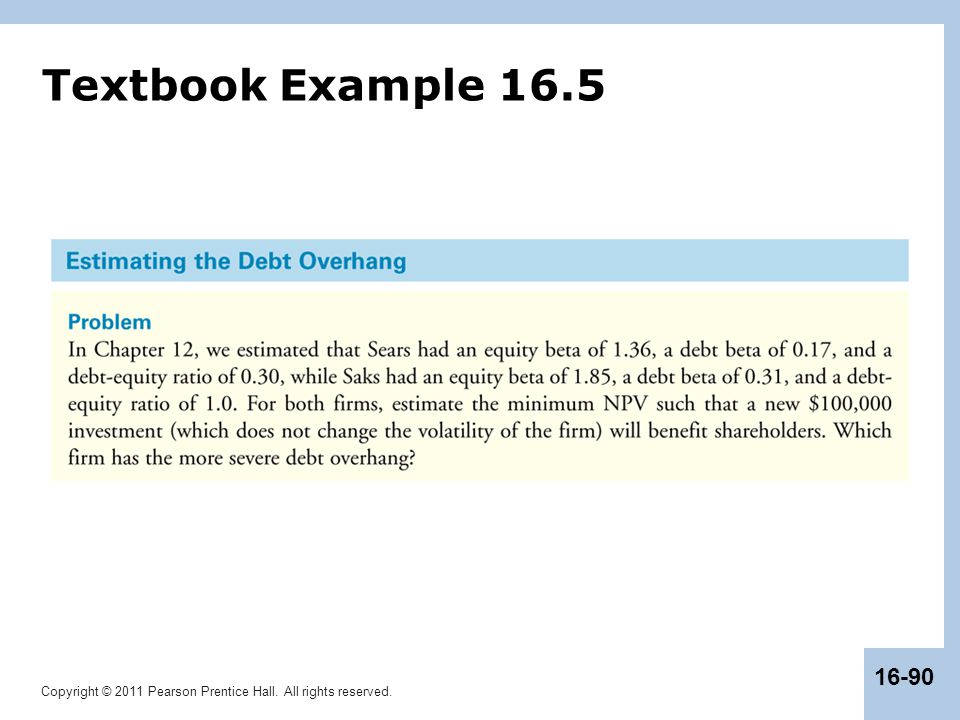 Textbook Example 16.5