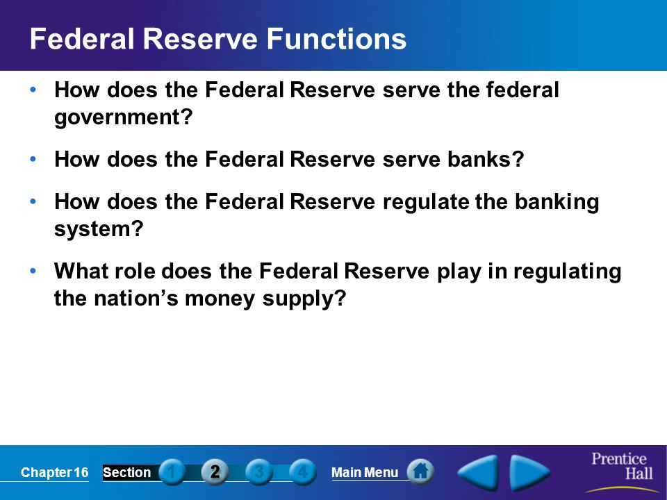 Federal Reserve Functions