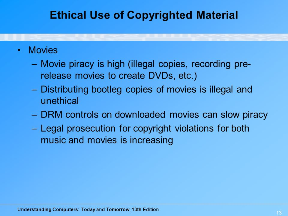 Ethical Use of Copyrighted Material
