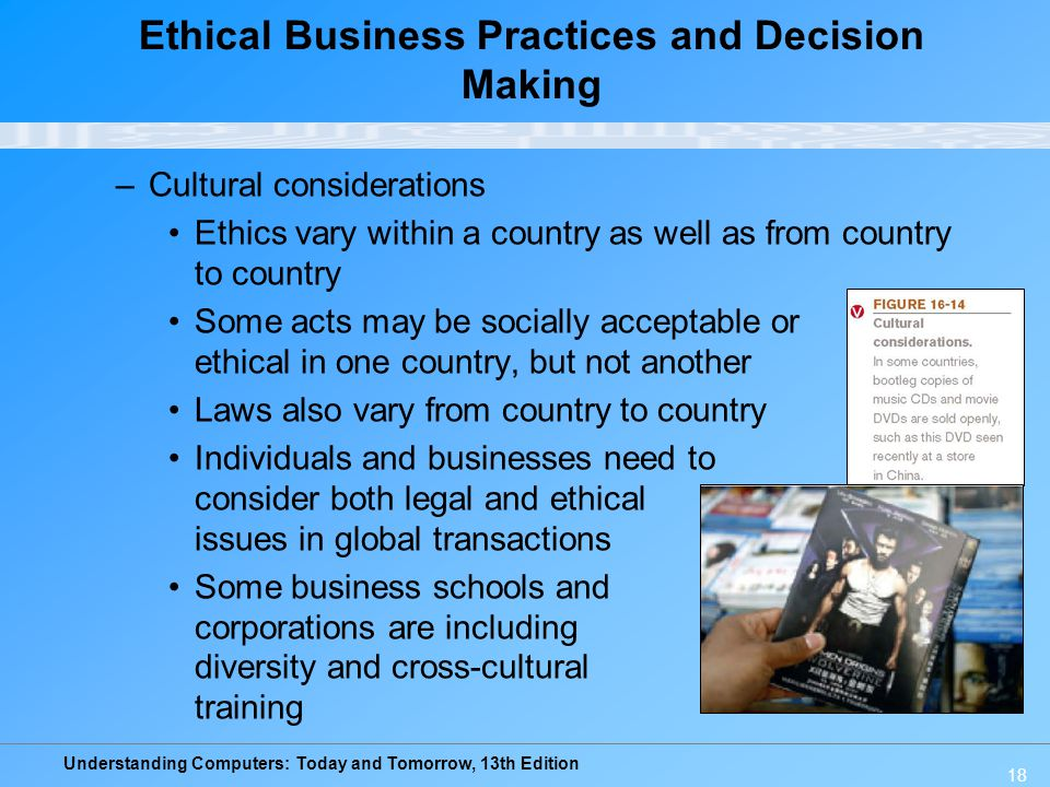 Ethical Business Practices and Decision Making