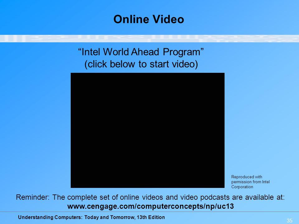 Online Video Intel World Ahead Program (click below to start video)