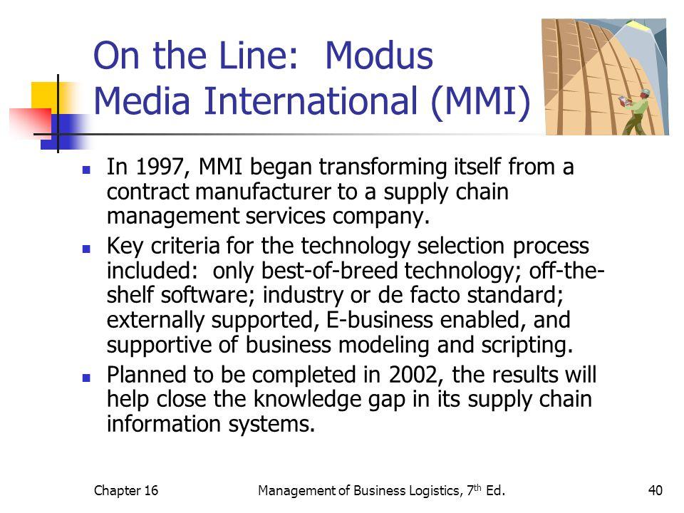 On the Line: Modus Media International (MMI)