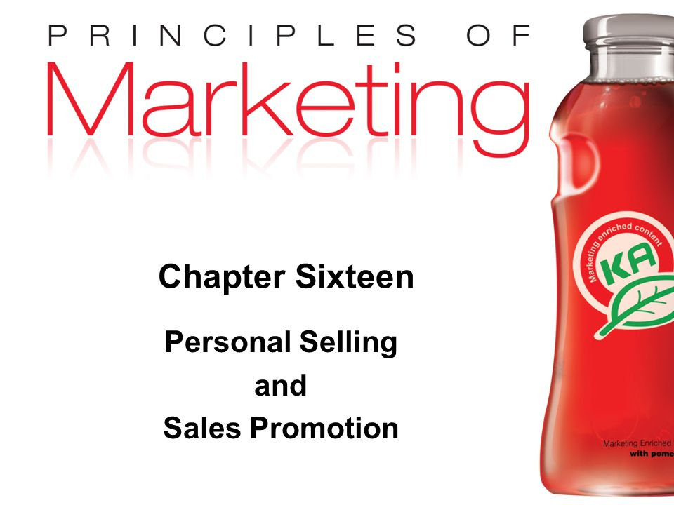 Personal Selling and Sales Promotion