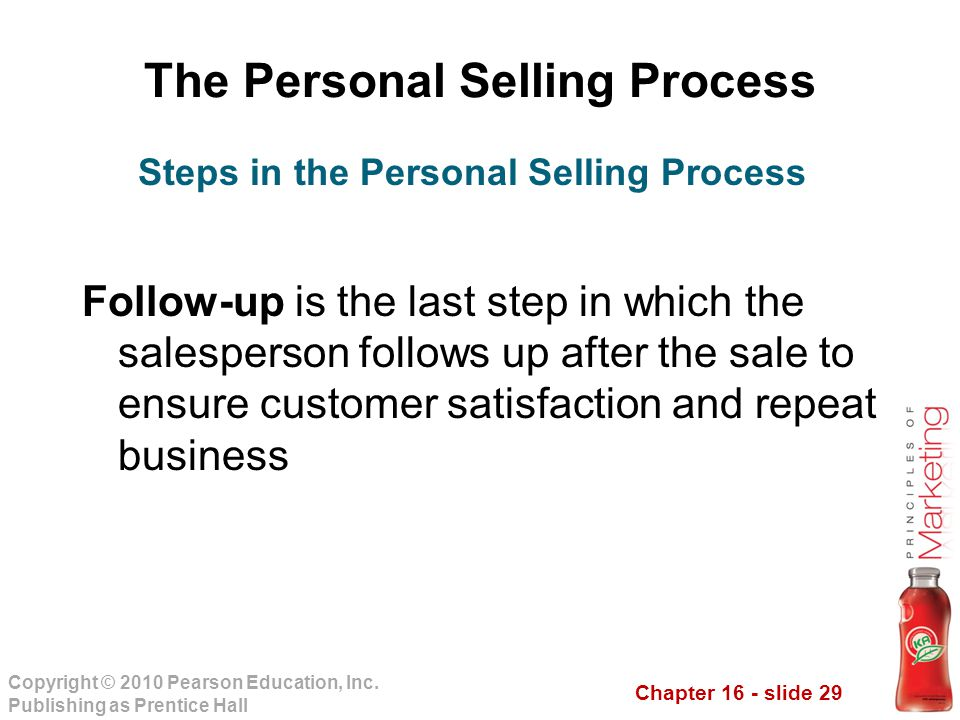 The Personal Selling Process