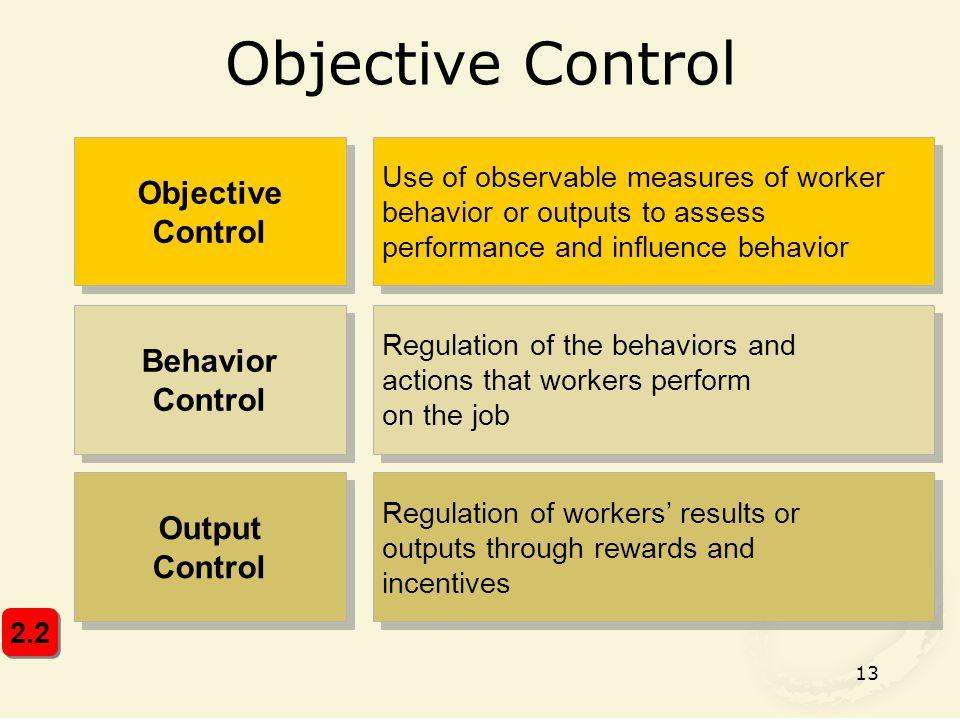 Objective Control Objective Control Behavior Control Output Control
