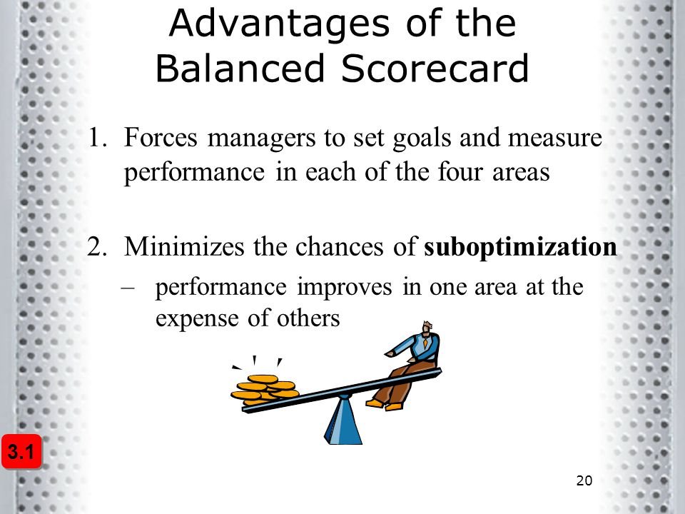 Advantages of the Balanced Scorecard