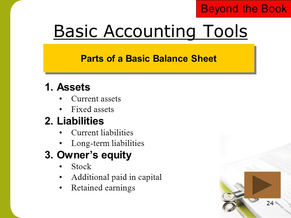 Basic Accounting Tools
