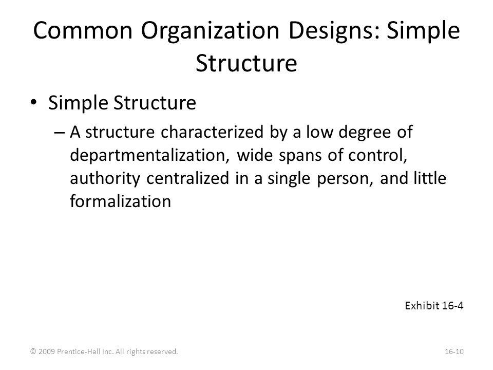 Common Organizational Designs: Bureaucracy