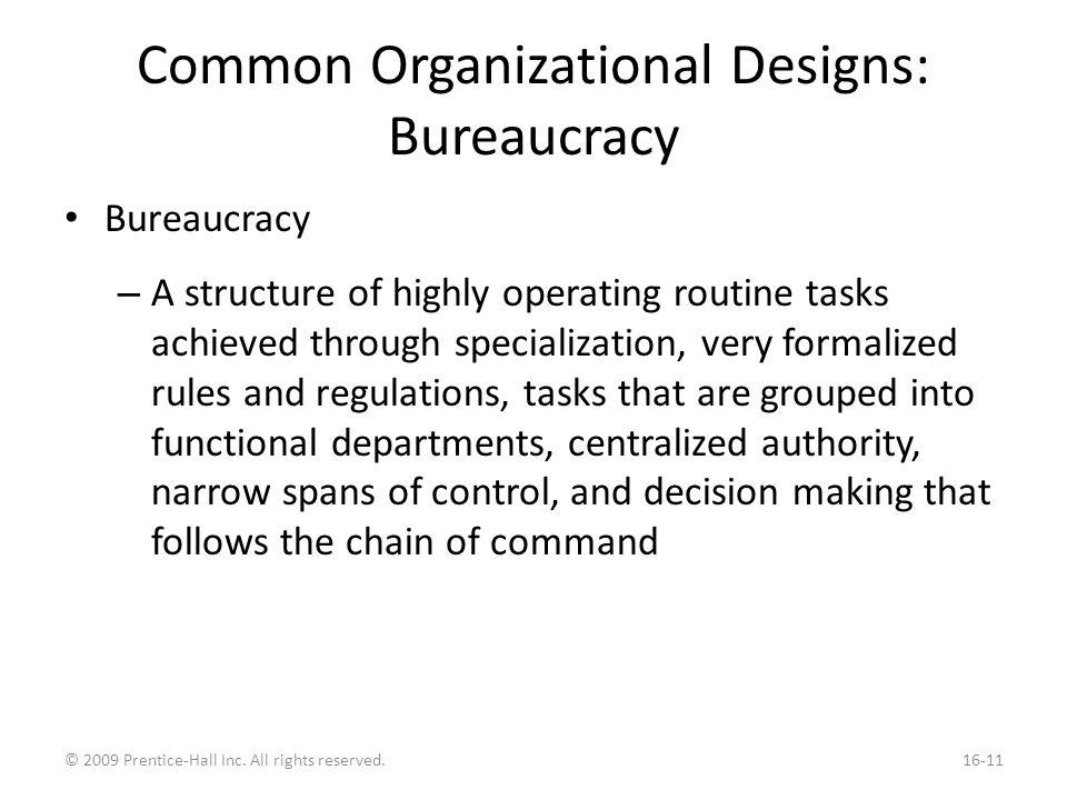 An Assessment of Bureaucracies