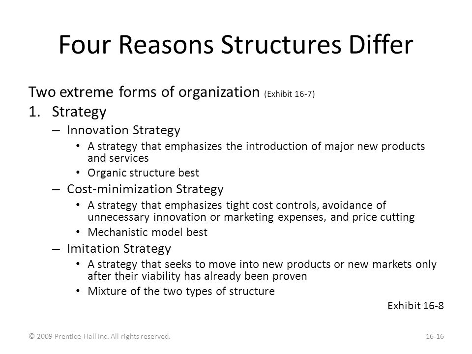 Why Structures Differ Organizational Size Technology Environment
