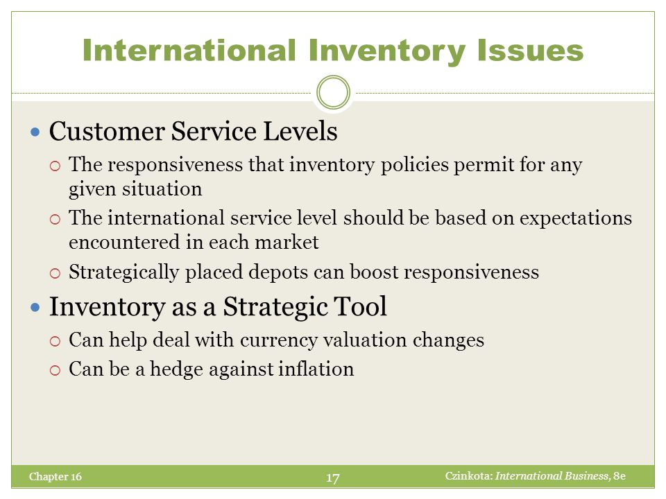 International Inventory Issues