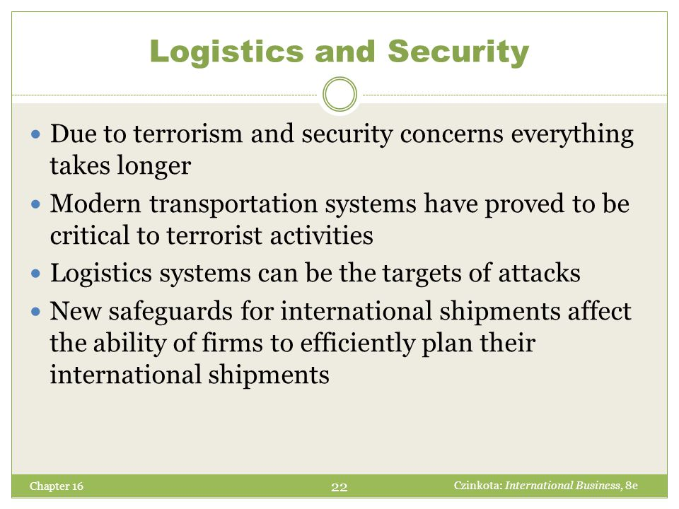 Logistics and Security