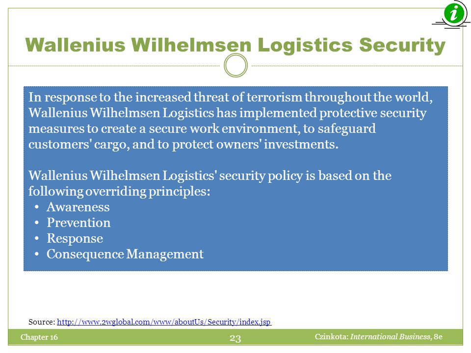 Wallenius Wilhelmsen Logistics Security