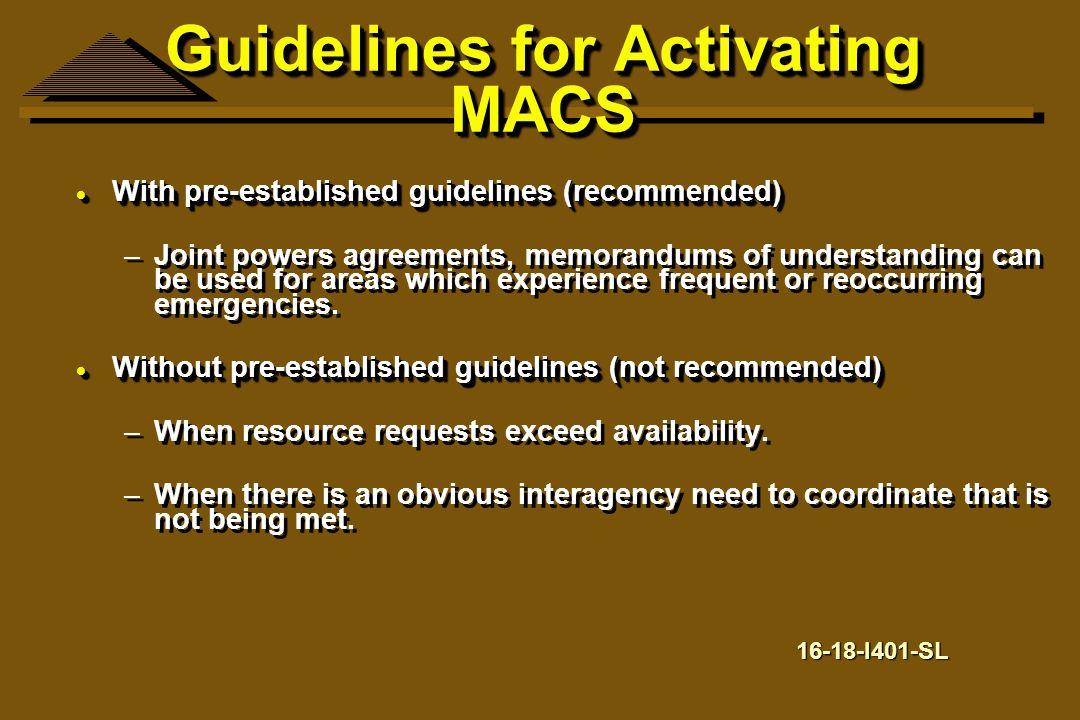Guidelines for Activating MACS