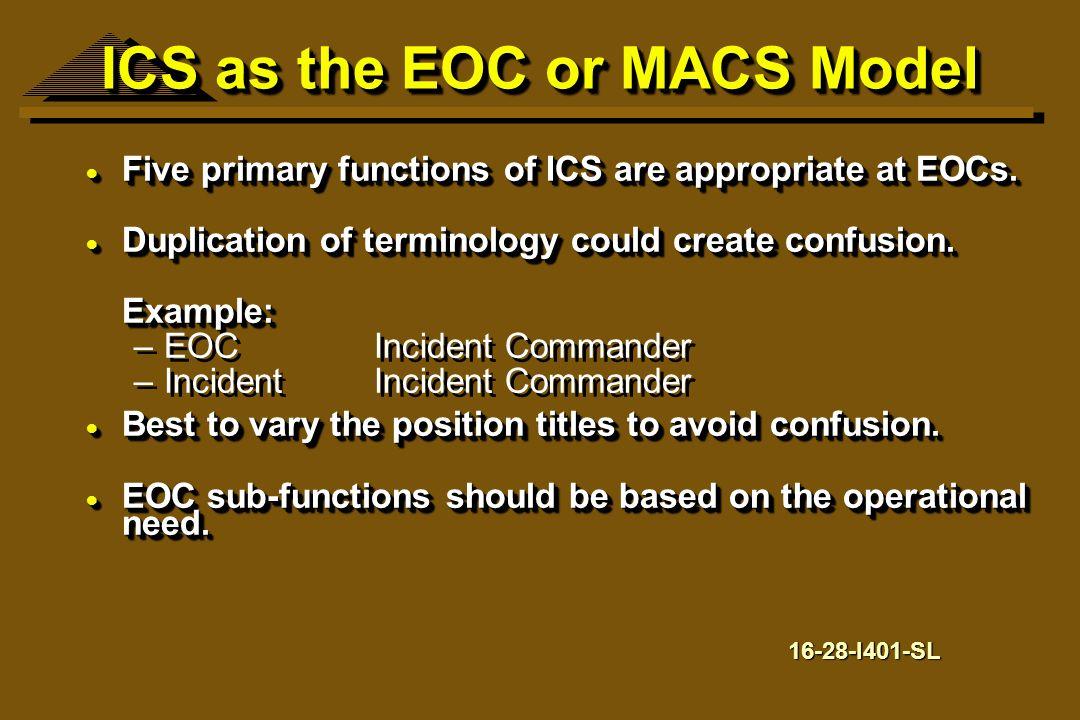 ICS as the EOC or MACS Model